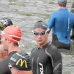 Triathlet Philipp Heinz, kurz vor dem Start_Erfurt Triathlon 2011