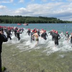 Der Schwimmstart um 11:00 Uhr_28. Leipziger LVB Triathlon 2011