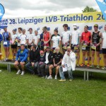 Siegerehrung Gesamt von Frauen und Mnner _28. Leipziger LVB Triathlon 2011
